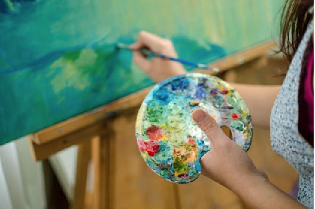 Schilderen met acrylverf schilderen Kleuren temperen/dempen